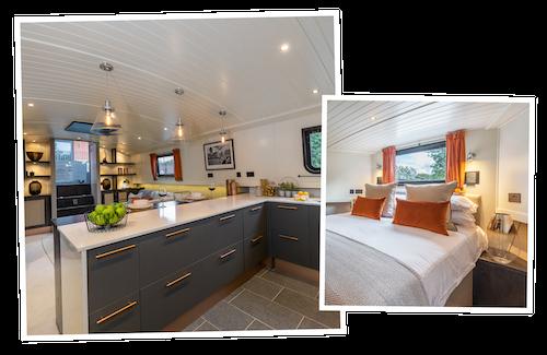 Houseboat interior photographs